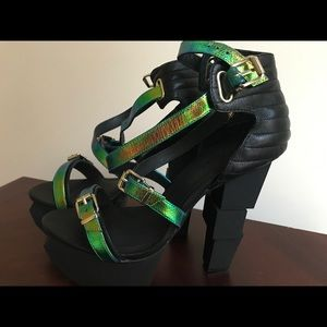 Shoes - Jennifer Chou Iridescent Block heels